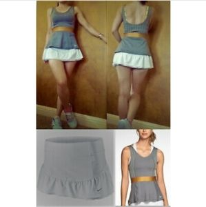 Nwt Nike Women XS Tennis Tank Top + Skirt Skort
